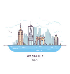 New york panorama vector