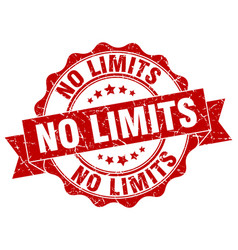 no limits stamp sign seal vector image