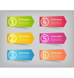 numbering in colored 3d stickers vector image