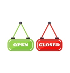 Open and close sign vector