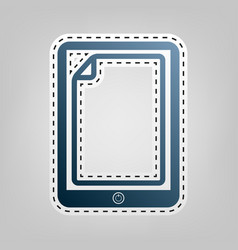 Protective sticker on the screen blue vector