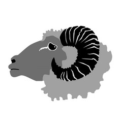 Ram domestic animal vector