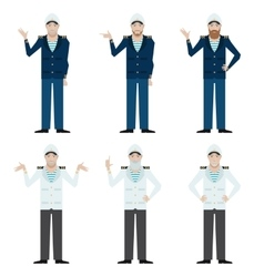Set of Captains vector image vector image