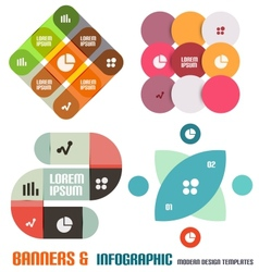 Set of modern geometrical banners and infographics vector image vector image