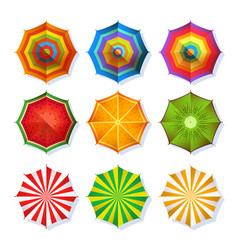 top view picture of summer beach umbrella for vector image