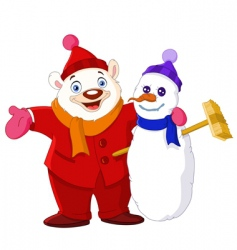 winter buddies vector image vector image