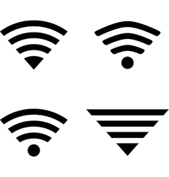 Wireless symbols vector image