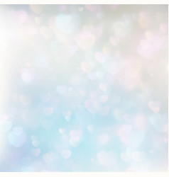 Defocused hearts bokeh background eps 10 vector