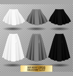 Different model skirt on vector