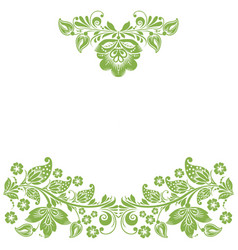 greenery eco floral frame background decoration vector image