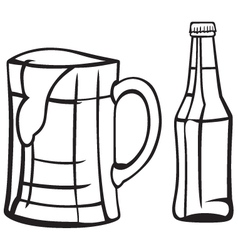Light beer vector