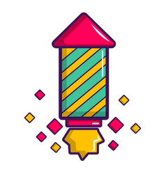 Party popper icon cartoon style vector