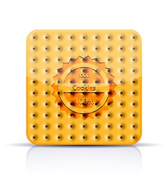 Cookies app icon on white background eps 10 vector