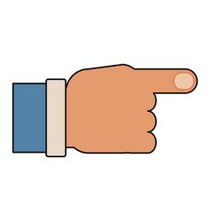 hand pointing symbol vector image