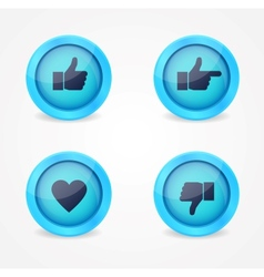 Set of glossy internet icons vector