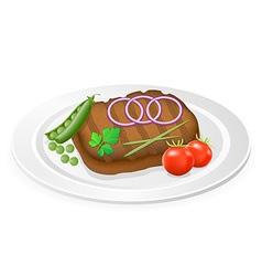 fried steak 03 vector image