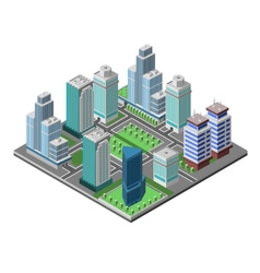 Skyscraper city concept vector