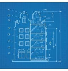 Blueprint facility vector image