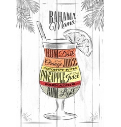 Banama mama cocktail vector