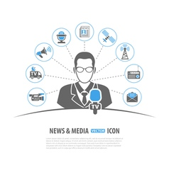 Media and news concept vector