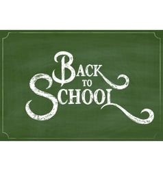 Back to school chalk hand drawing greeting card vector