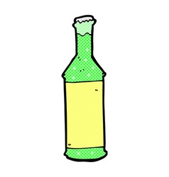 Comic cartoon fizzy drinks bottle vector
