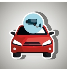 Vehicle Safety isolated icon design vector image