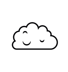 Cloud computing isolated icon design vector