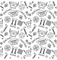 Smart robot parts and details background vector image