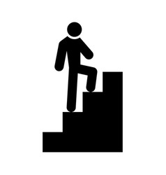 a man climbing stairs vector image