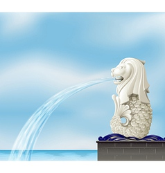 A statue of merlion vector image