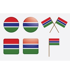 badges with flag of Gambia vector image vector image