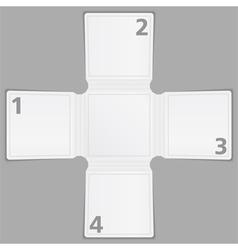 Blank paper brochure template vector