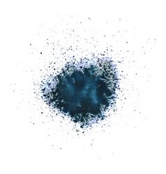 Blue blot vector