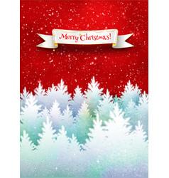 christmas winter postcard vector image vector image