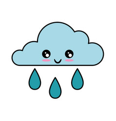 Cloud and rain icon vector