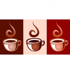 coffee mugs vector image vector image