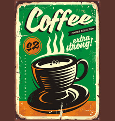 Coffee vintage tin sign vector