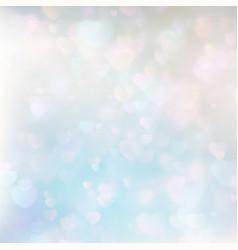 Defocused hearts bokeh background EPS 10 vector image vector image