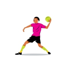 Dodgeball Cartoon vector image vector image