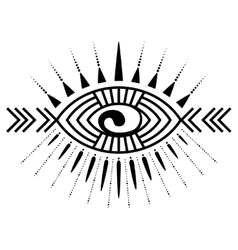 Eye tattoo element vector image