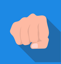Fist bump icon in flat style isolated on white vector