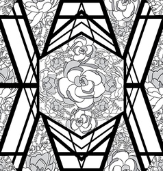 Geometric floral pattern padrao geometrico floral vector
