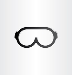 glasses line icon design element vector image vector image