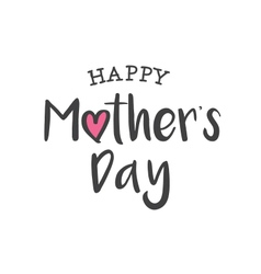 happy mothers day logo card vector image