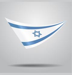 Israeli flag background vector