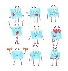 Letter envelop cartoon character emotion vector