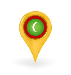 Location maldives vector