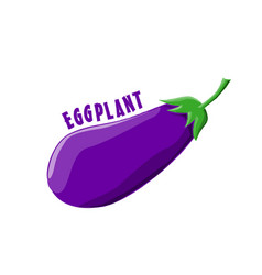 Logo icon design eggplant farm vector