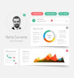 Minimalist infographic dashboard template vector